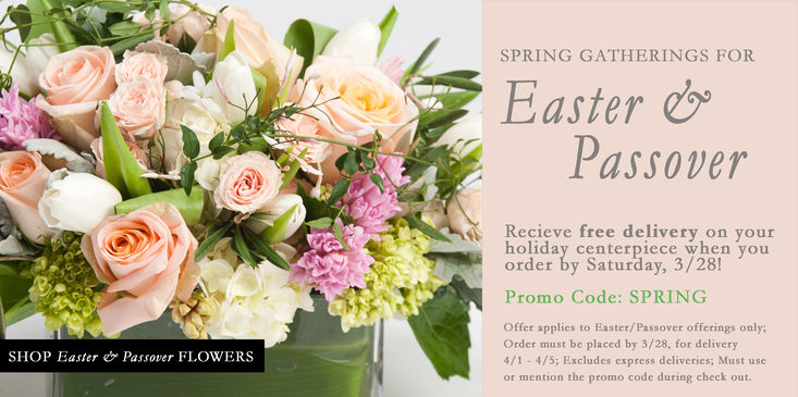 Easter & Passover flowers, centerpieces, arrangements for delivery or pick up in Chestnut Hill, Bryn Mawr, Wyndmoor, PA & NJ, New Jersey, Free delivery